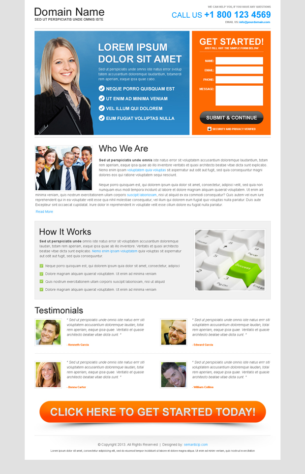 Free landing page design example for free download from http://www.buylandingpagedesign.com/free-landing-page-design/