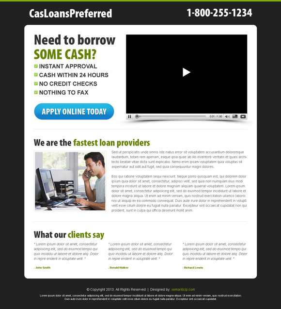 Killer video landing page design or killer video squeeze page design example for inspiration.