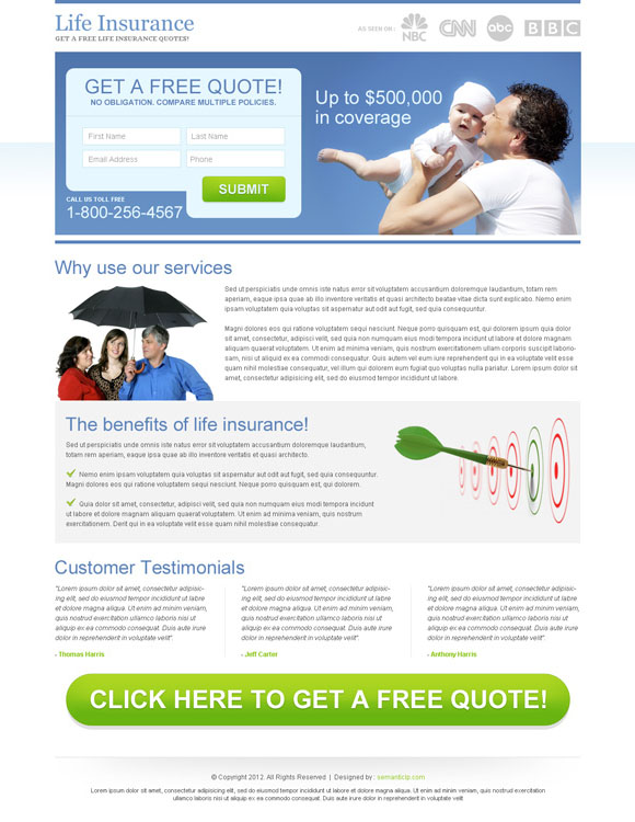 Top 10 converting landing page design 2013 for inspiration ...