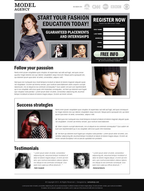 fashion-modeling-landing-page-design