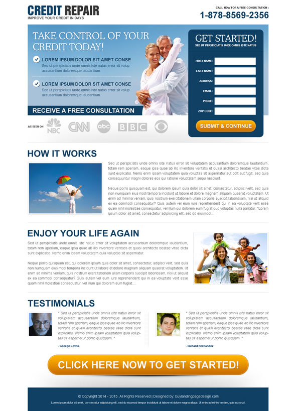credit repair lead capture html template landing page design to boost your credit repair business with lot of traffic, conversion and leads from https://www.buylandingpagedesign.com/buy/take-control-of-your-credit-today-free-consultation-lead-gen-squeeze-design/457