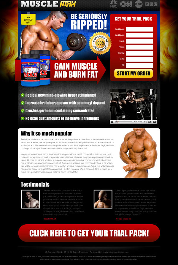 bodybuilding effective and appealing lead capture landing page design templates to increase sales of your bodybuilding product online from https://www.buylandingpagedesign.com/buy/be-seriously-ripped-and-burn-fat-faster-with-our-body-building-product-effective-and-converting-landing-page-design/431