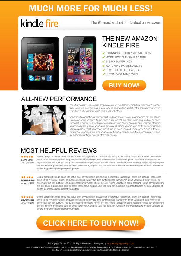 blogger product review template - top 50 landing page designs 2014 to increase conversion