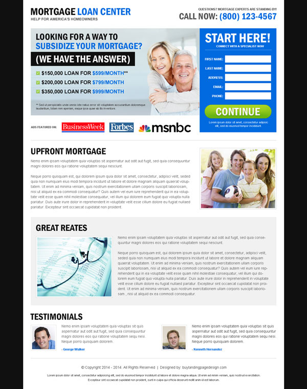 mortgage appealing and converting landing page design to maximize conversion from https://www.buylandingpagedesign.com/buy/mortgage-loan-center-effective-and-user-friendly-lead-capture-landing-page-design/321