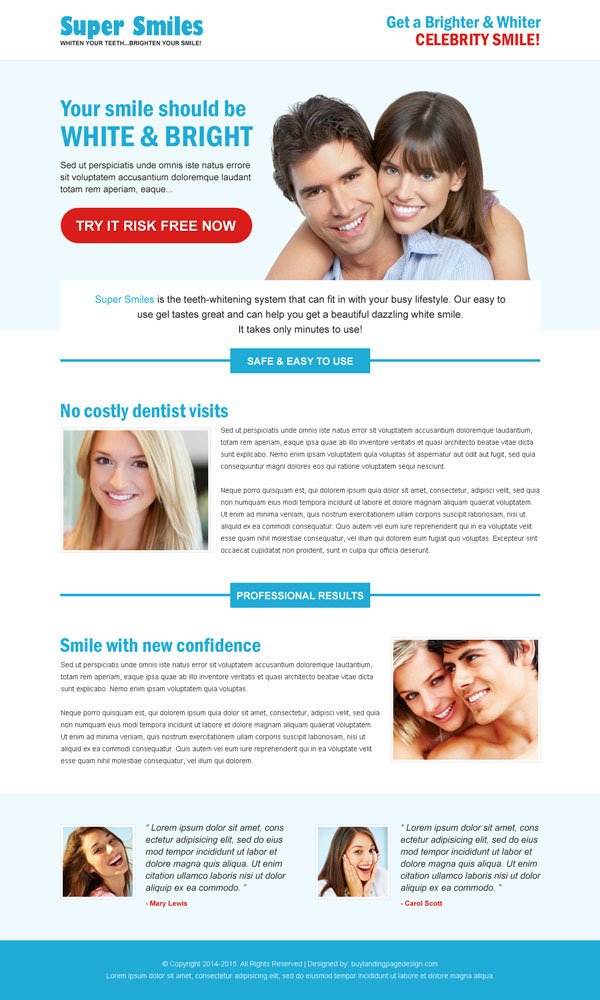 teeth whitening responsive landing page design templates to boost your teeth whitening product sales from https://www.buylandingpagedesign.com/buy/teeth-whitening-product-responsive-landing-page-design/27