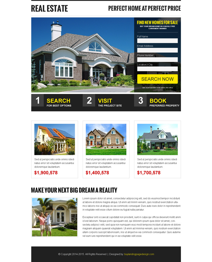 Free landing page design templates for free download psd html for Free lead capture page templates