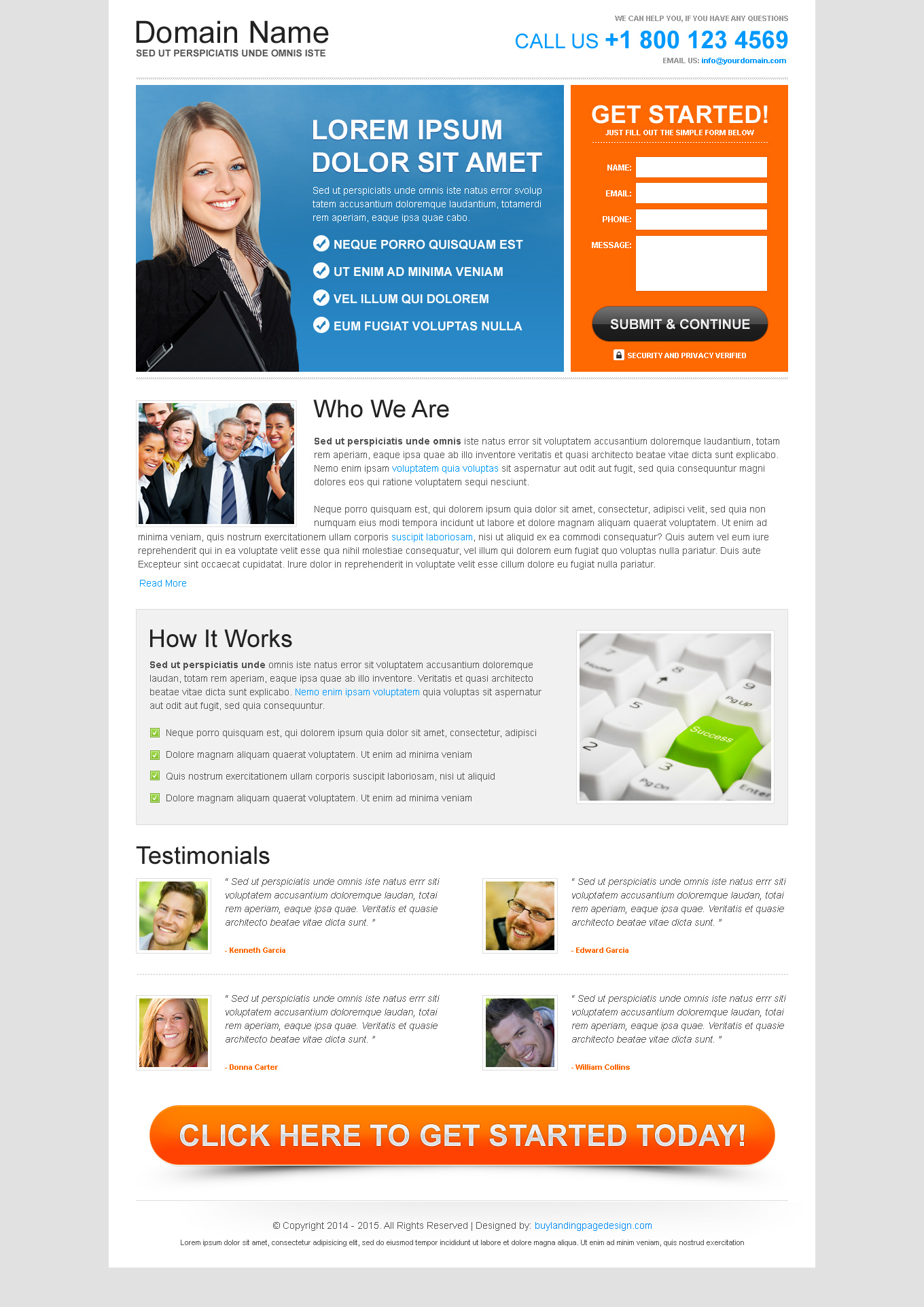Free landing page design templates for free download psd/html ...