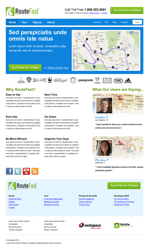 CTA (call to action) landing page design portfolio
