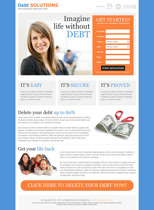 30 best mobile friendly landing page design templates 2014 for Free lead capture page templates
