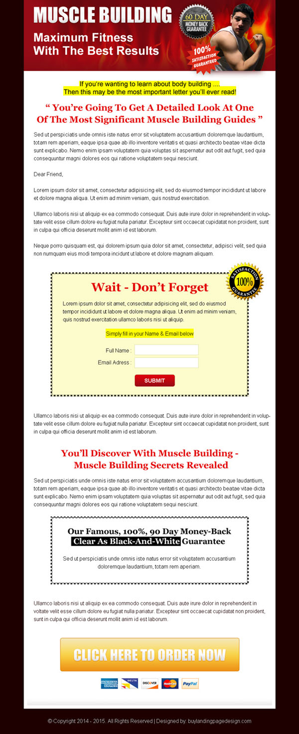 Sales page landing page design to boost your product sales ...