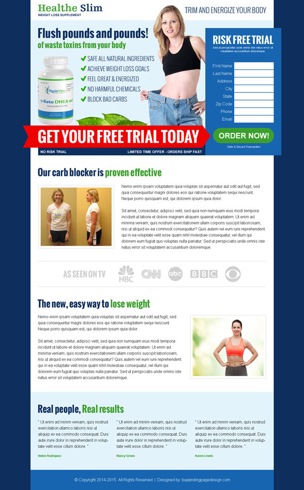 loss product selling lead capture landing page design templates 033