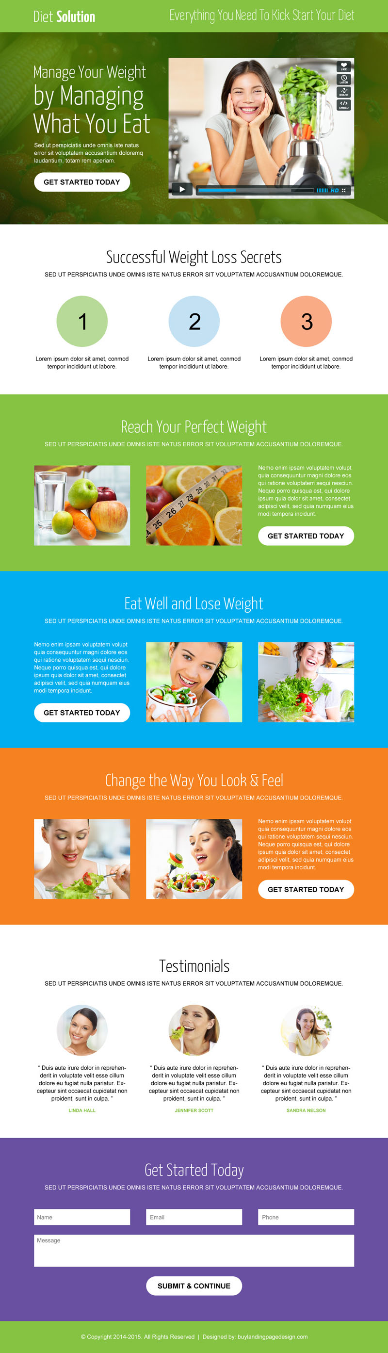 Best weight loss landing page design to maximize your conversion