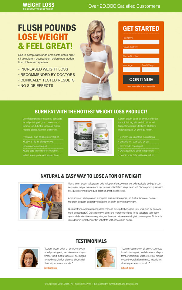 Best weight loss landing page design to maximize your conversion ...