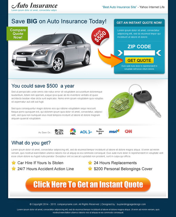 auto-insurance-lead-capture-landing-page-design-by-zip-code-search-001