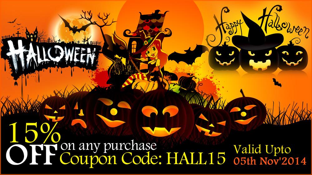 Happy halloween 15 off discount offer happy halloween discount maxwellsz