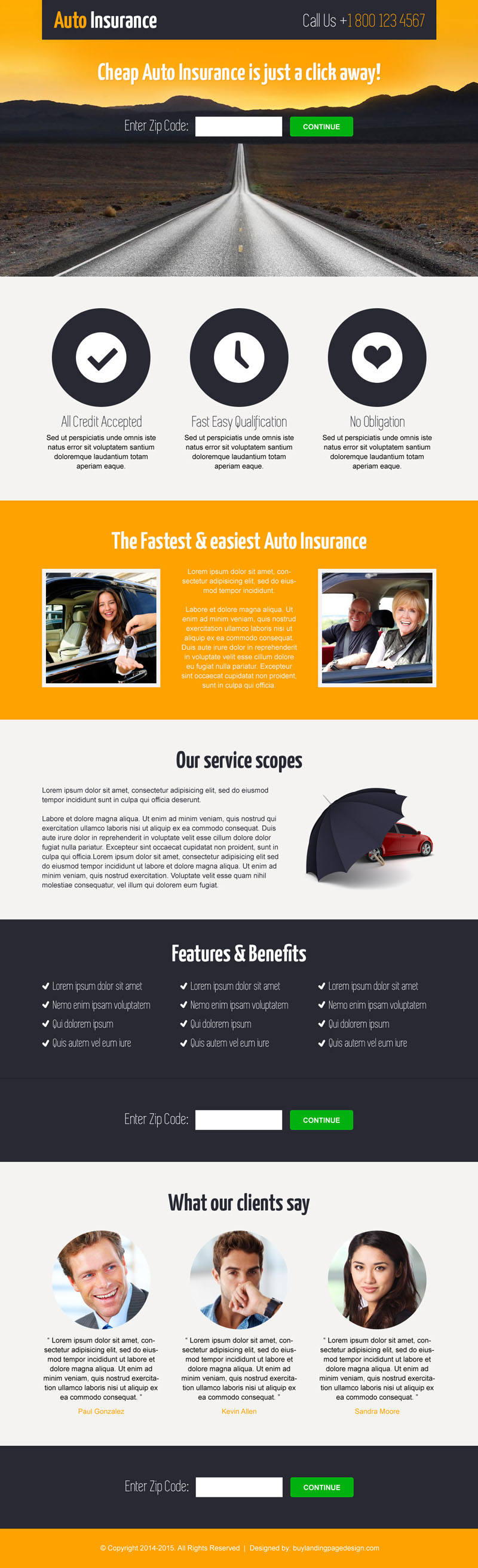 insurance by zip code lead capture landing page design templates 035