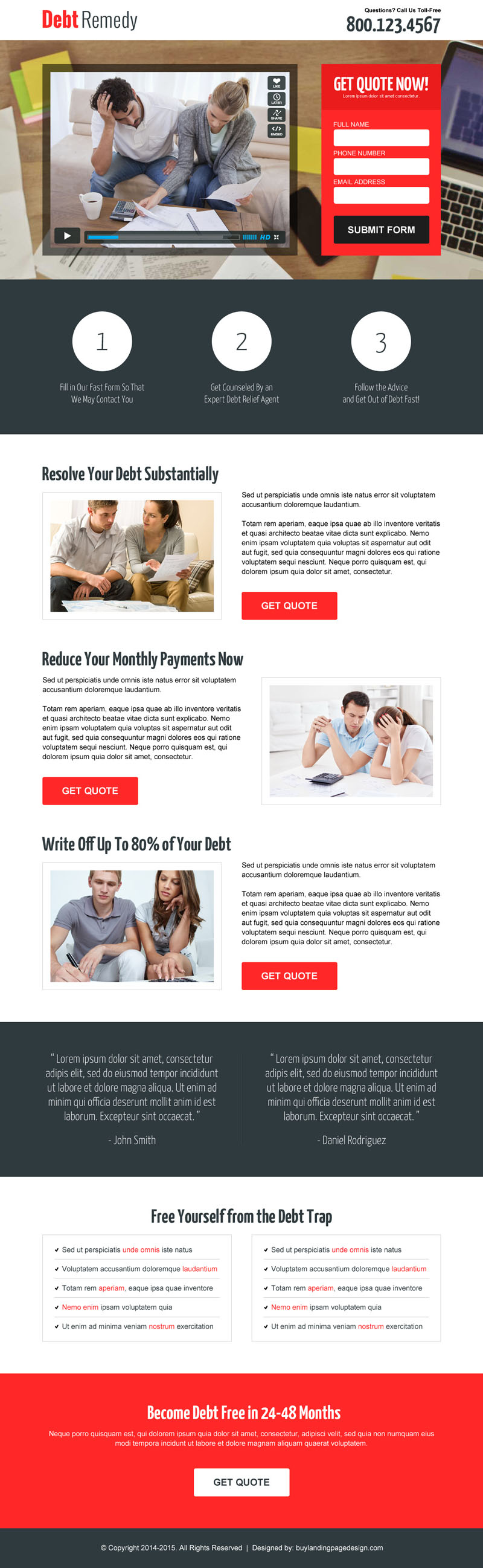 free lead capture page templates - 10 best landing page designs with video for your business