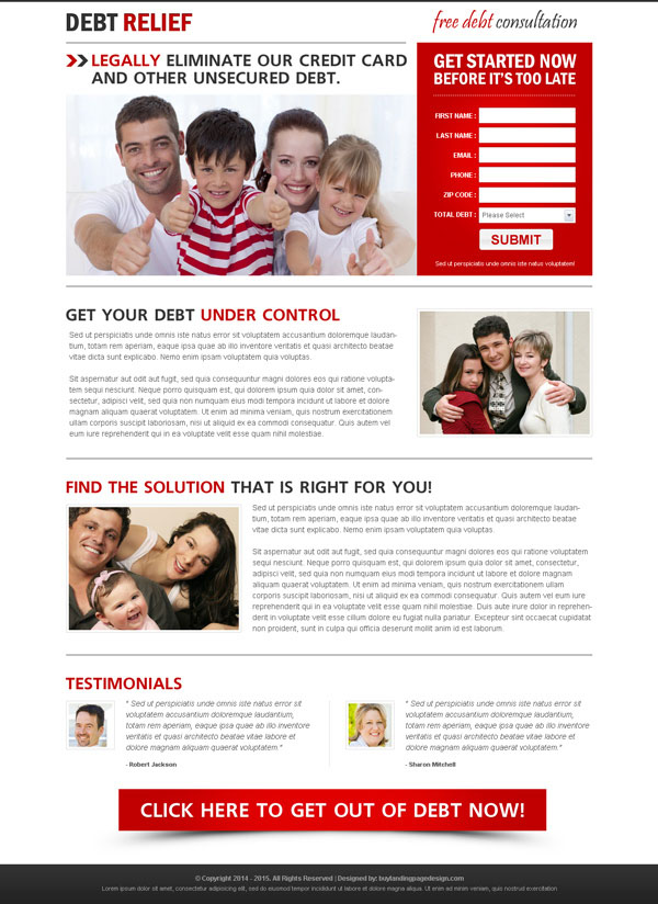 Landing page design landing page design templates example for Free lead capture page templates