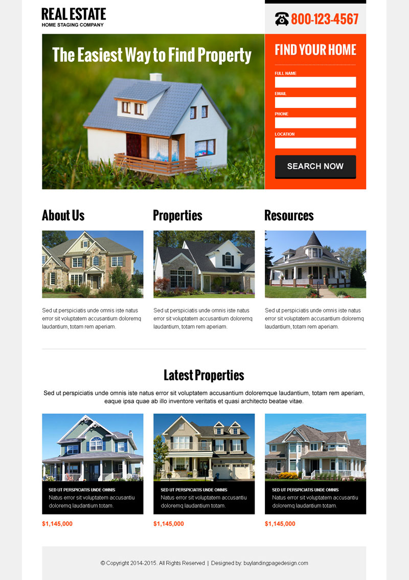 real estate landing page examples