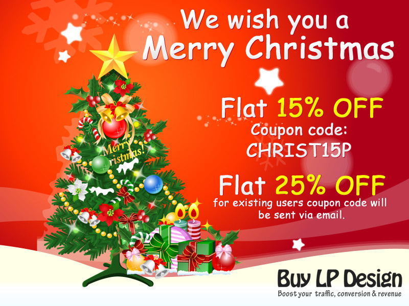 Buylandingpagedesign.com wish you all a Merry Christmas and a very Happy New Year 2015.