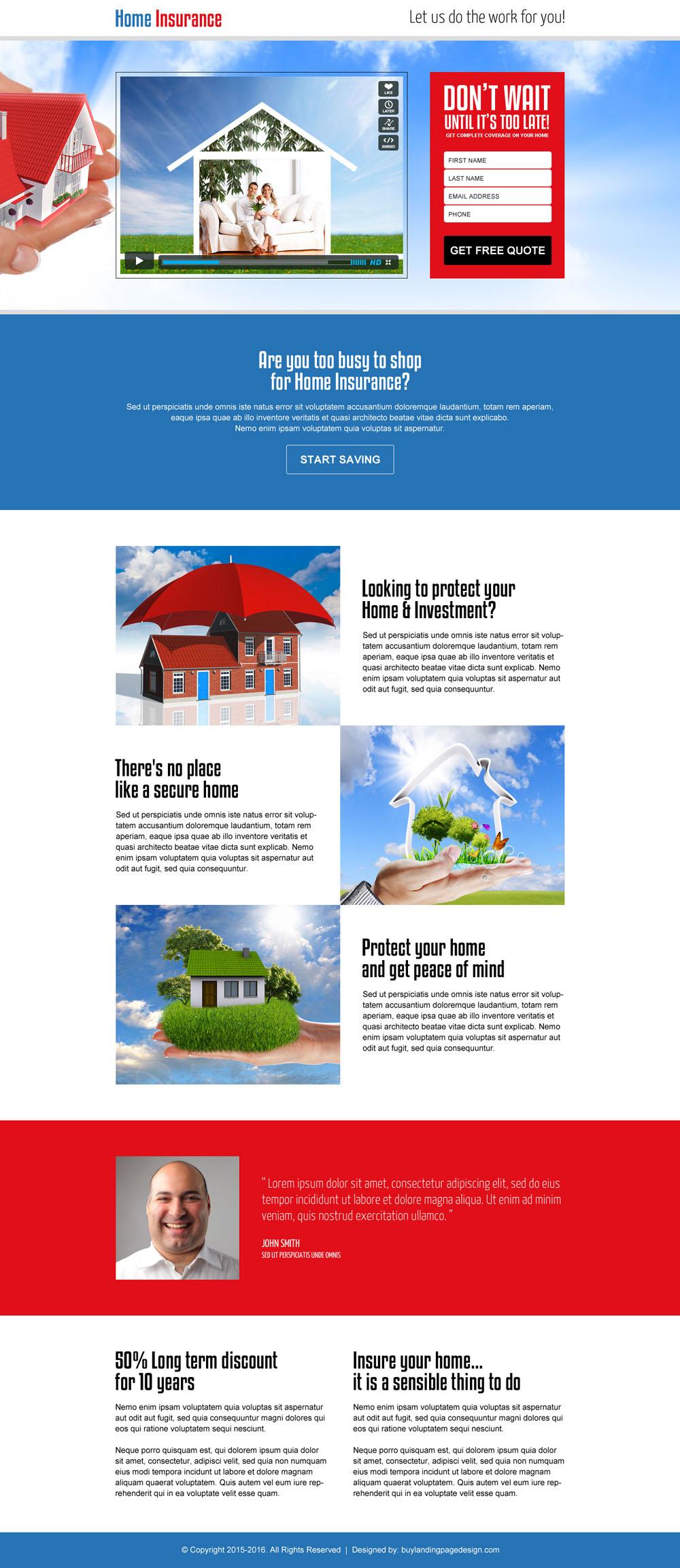 Converting insurance lead generation landing page design templates ...