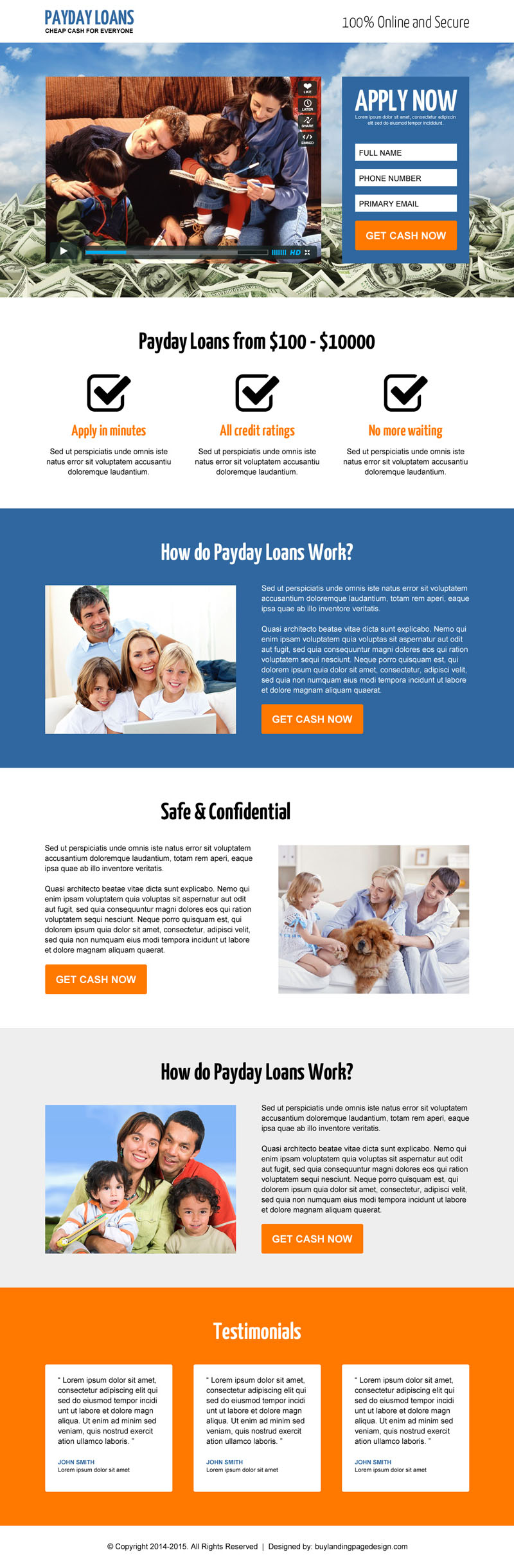 landing page design that convert your business into next level 2015