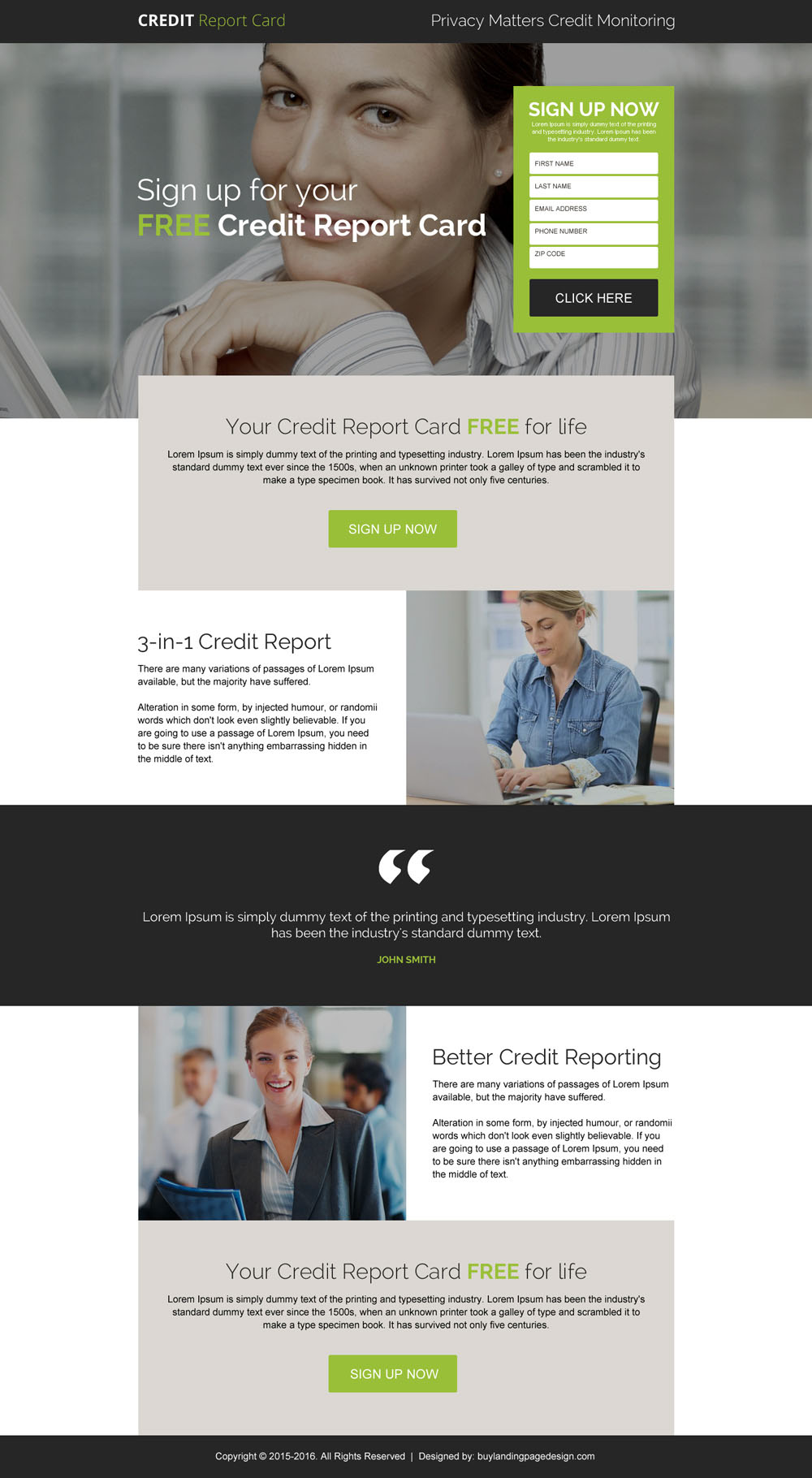 free-credit-report-card-for-life-sign-up-lead-generation-landing-page-design-009