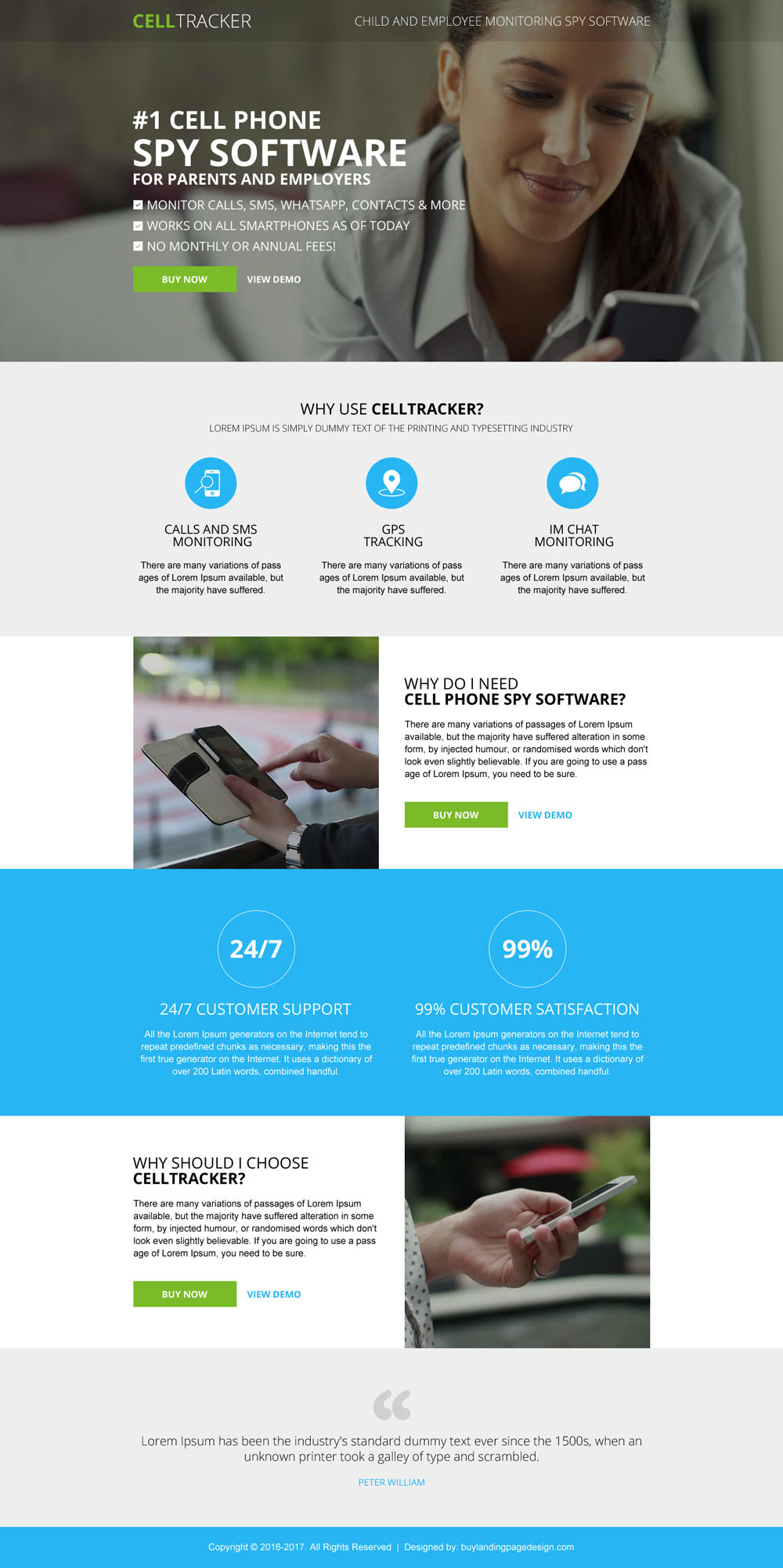 Responsive software landing pages added to Buylpdesign ...