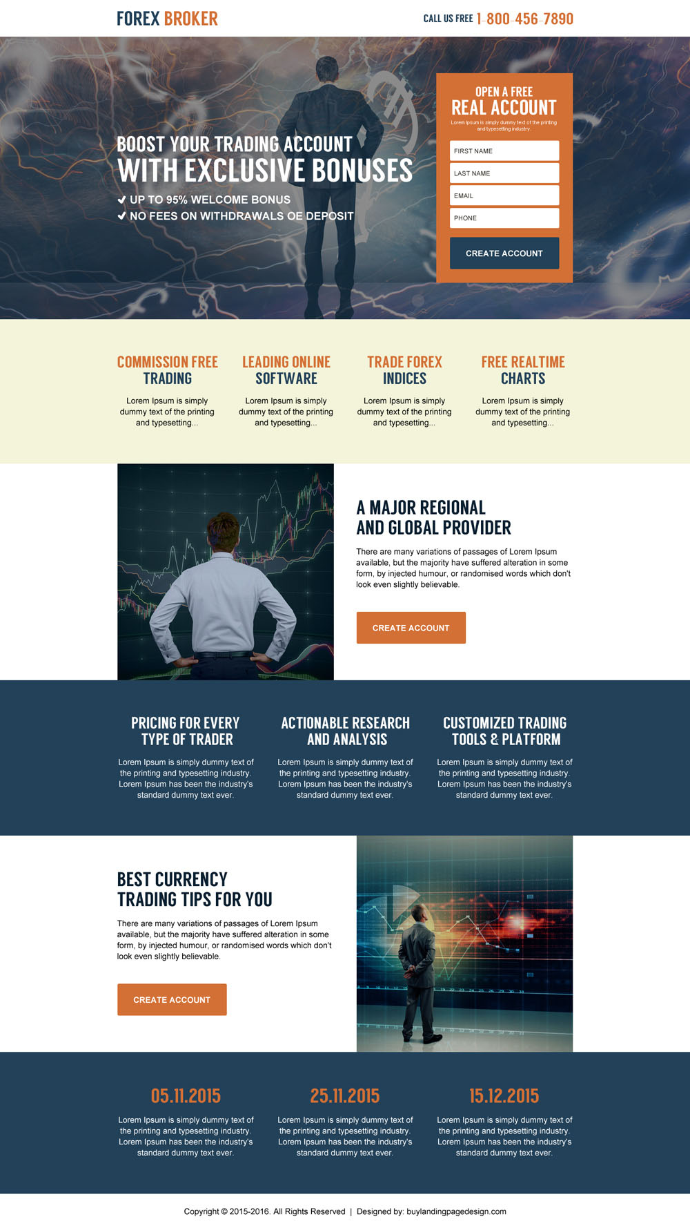 Forex broker web design