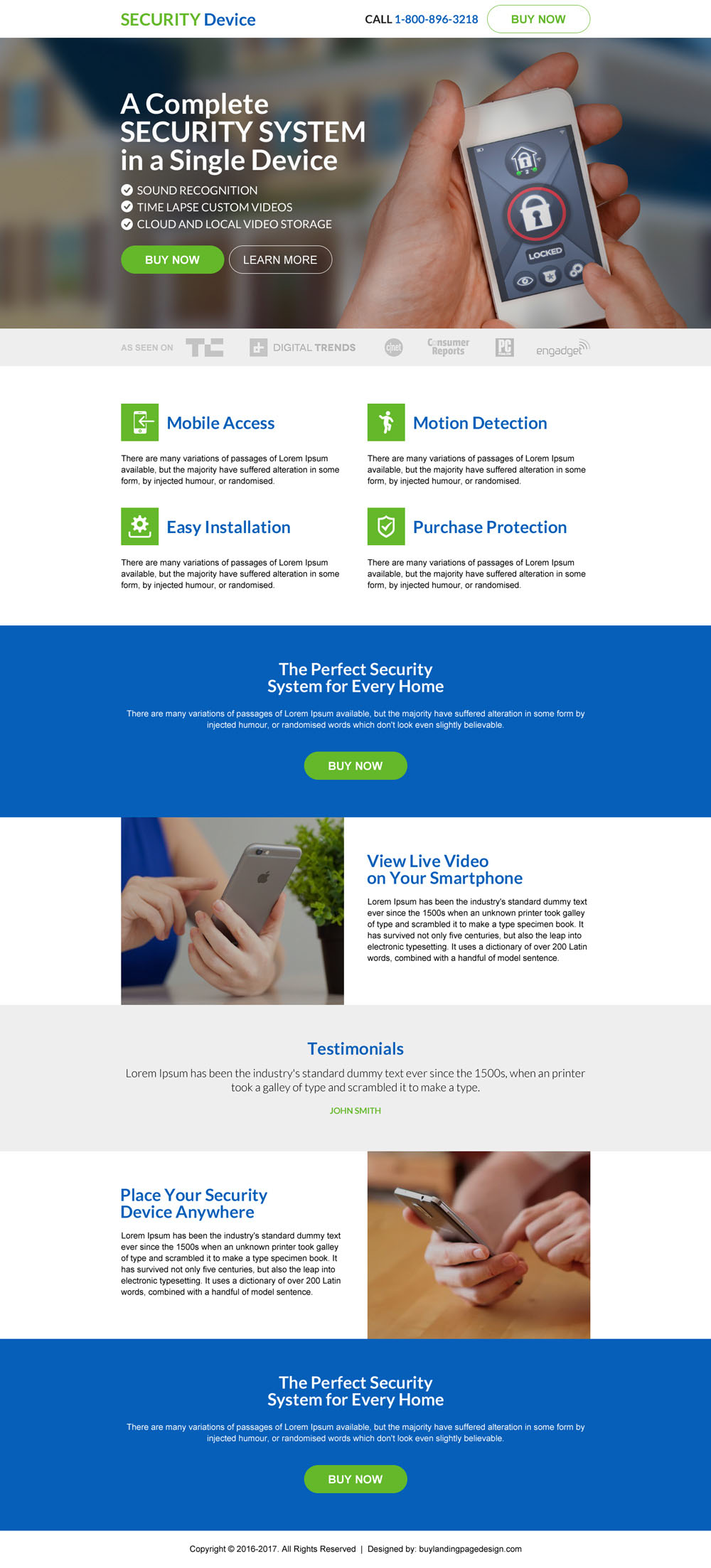 Check Out Some Of Our Best Selling And Converting Security Services And  Security Devices Promoting Landing Page Designs Below: