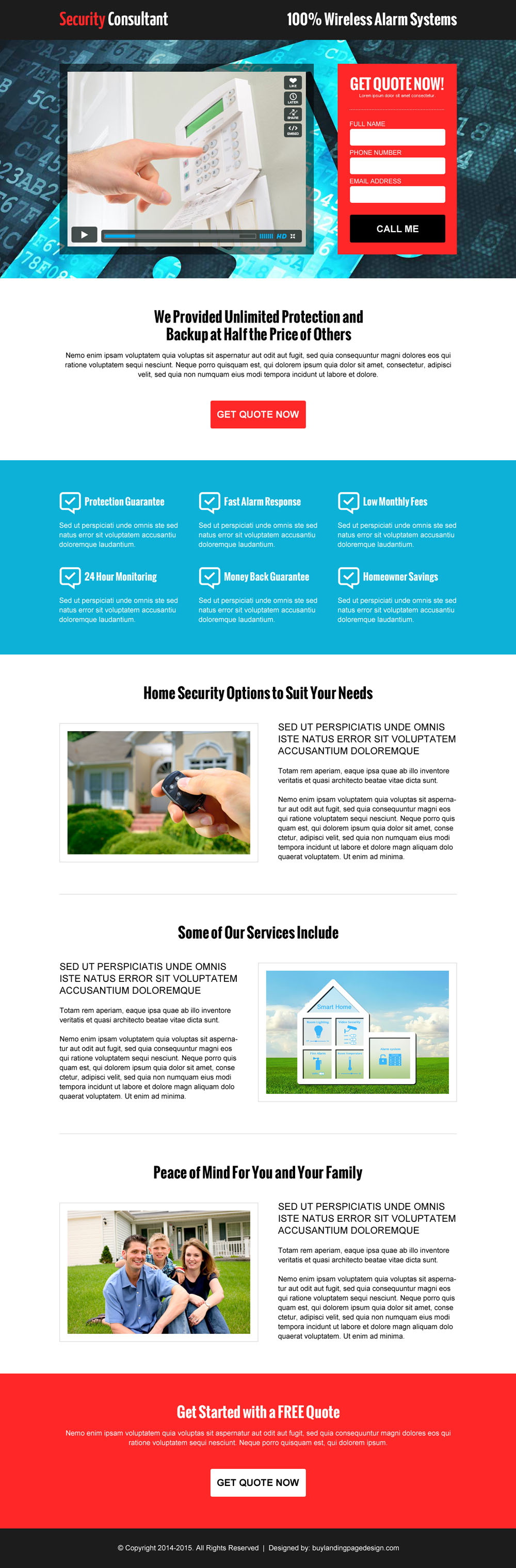 Lead capture security landing page buylpdesign blog for Free lead capture page templates