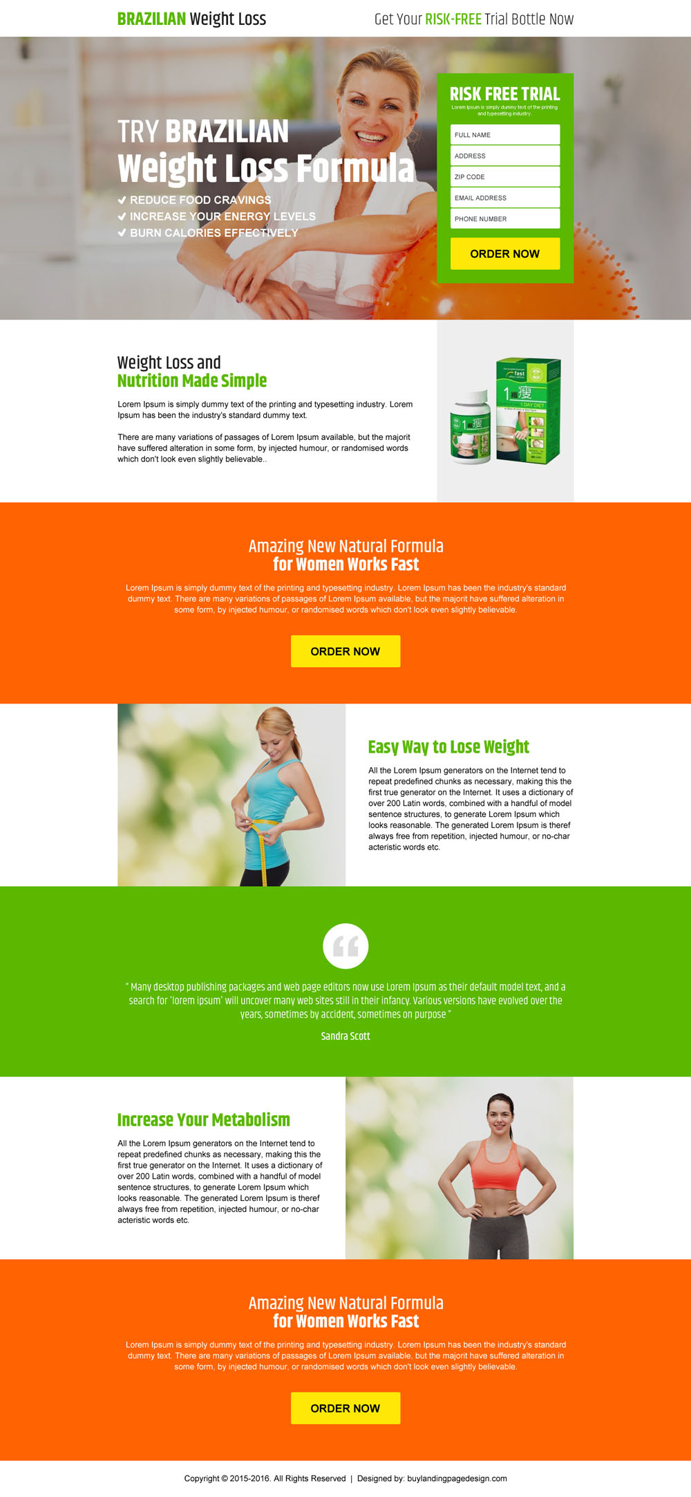 Garcinia cambogia weight loss landing page design templates for Top product design companies
