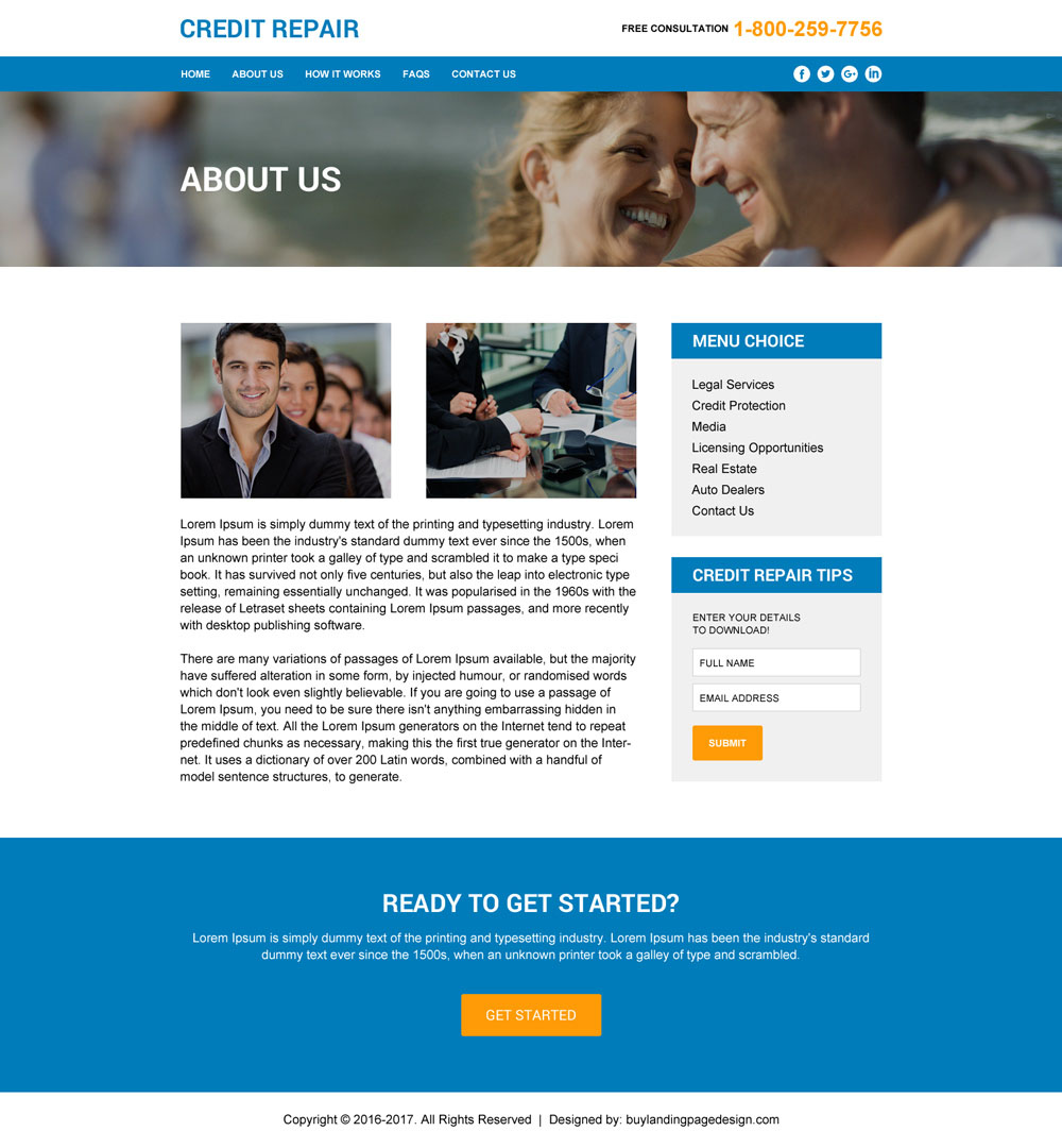 Credit Repair Html Website Template To Create Website For Your Professional Credit Repair Service 001 Inner Buylandingpagedesign Com