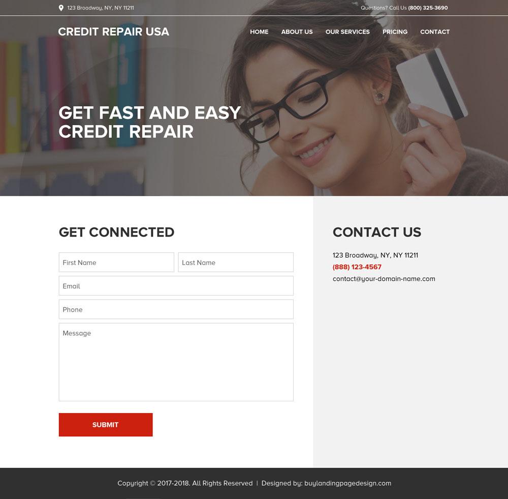 mobile friendly and professional credit repair website design. Black Bedroom Furniture Sets. Home Design Ideas