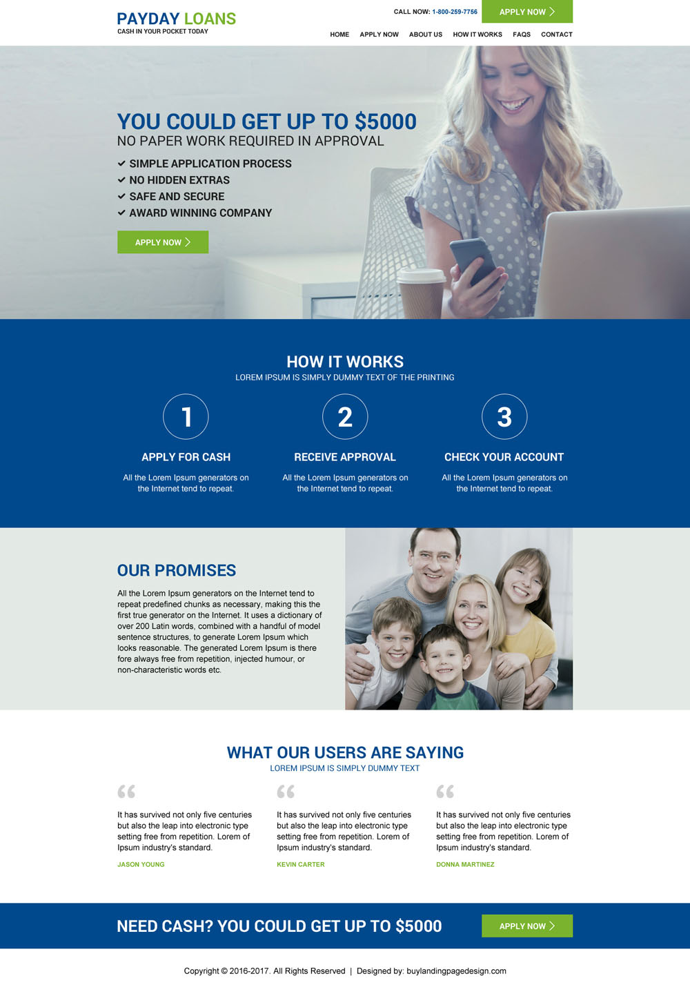 Responsive Payday Loan Website For Better Conversion Buylandingpagedesign Com