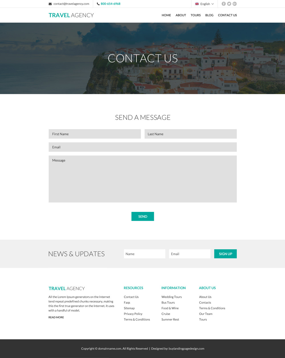 Travel Landing Page Design To Capture Lead And Boost Your Business