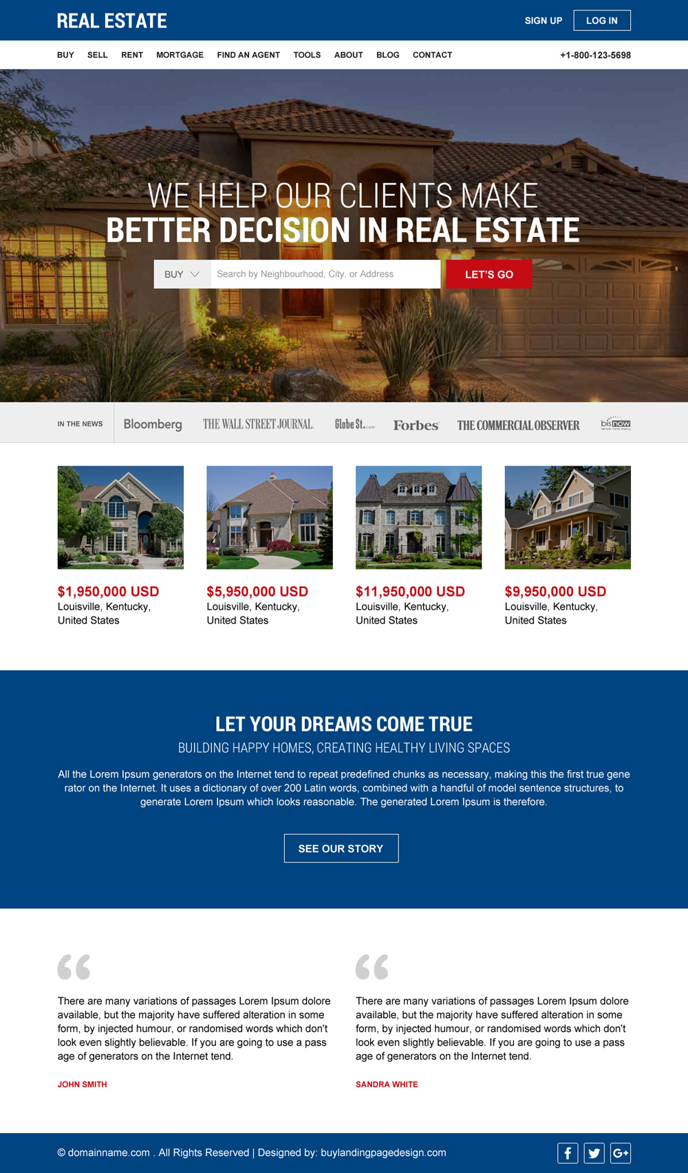 free quote lead capture real estate website design Archives