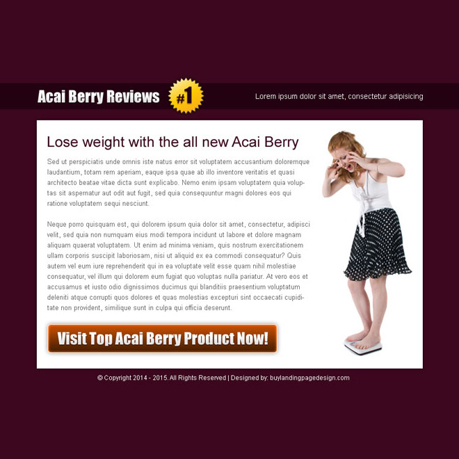 acai berry product review high converting ppv landing page design template Miscellaneous example