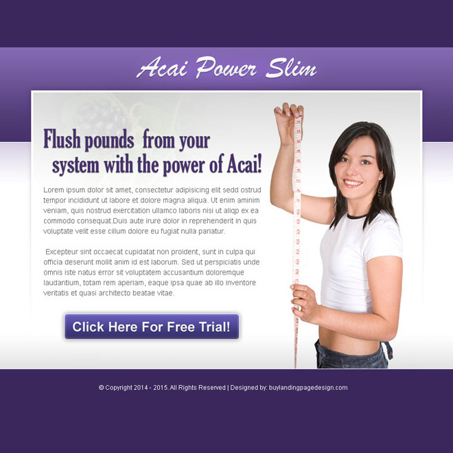 acai power slim effective and converting weight loss ppv landing page design PPV Landing Page example