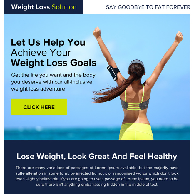 weight loss goals ppv landing page design Weight Loss example