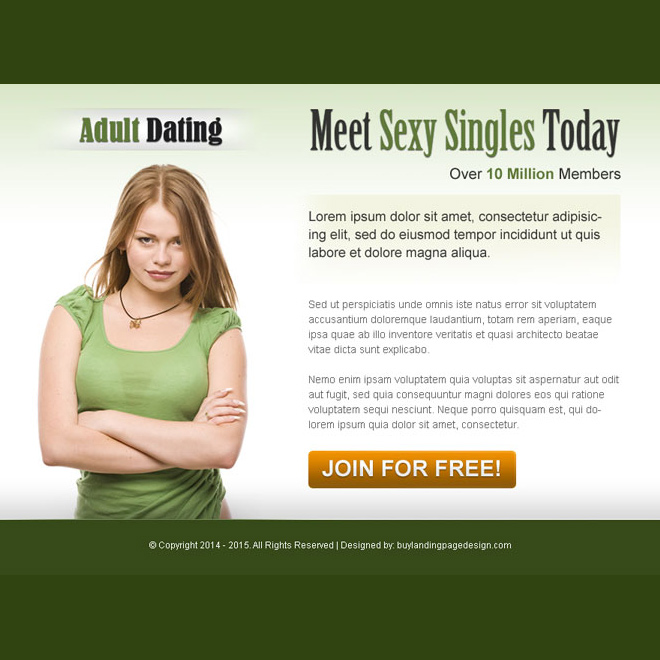 adult dating call to action ppv landing page design Dating example