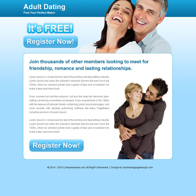 Adult dating templates