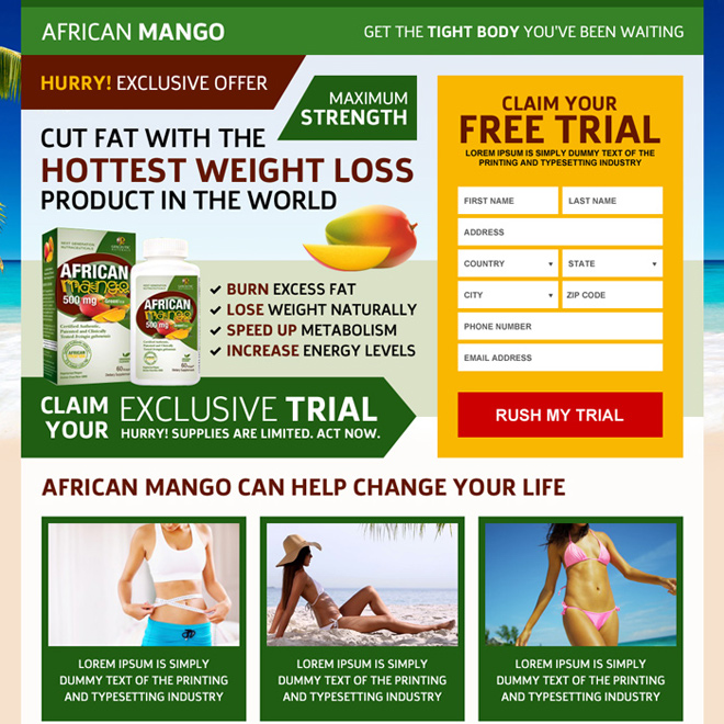 african mango miracle weight loss landing page Weight Loss example