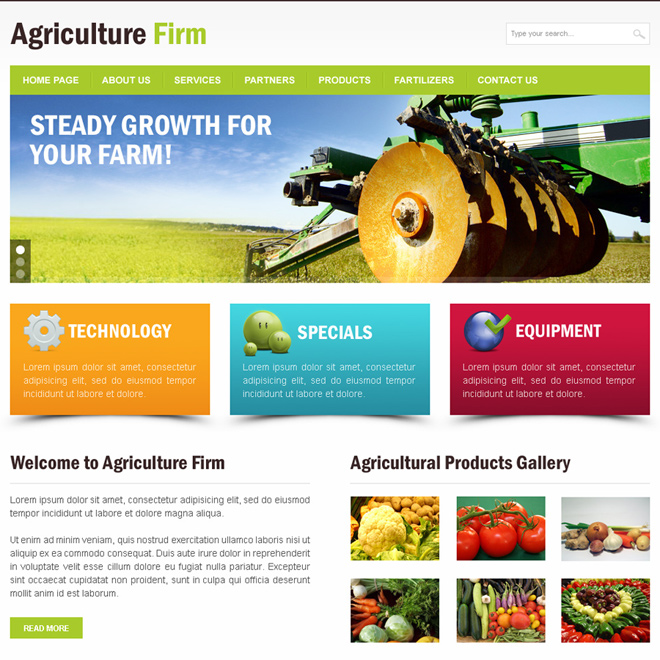 agriculture firm clean and effective html website template Agriculture example
