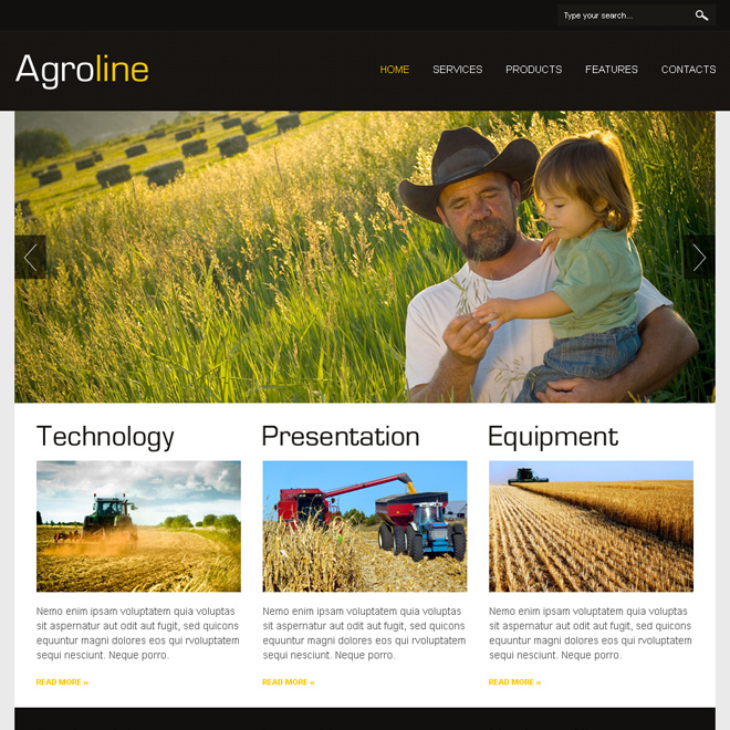 agriculture attractive and converting html website design Agriculture example