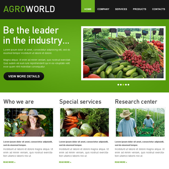 agro world attractive and converting html website template design Agriculture example