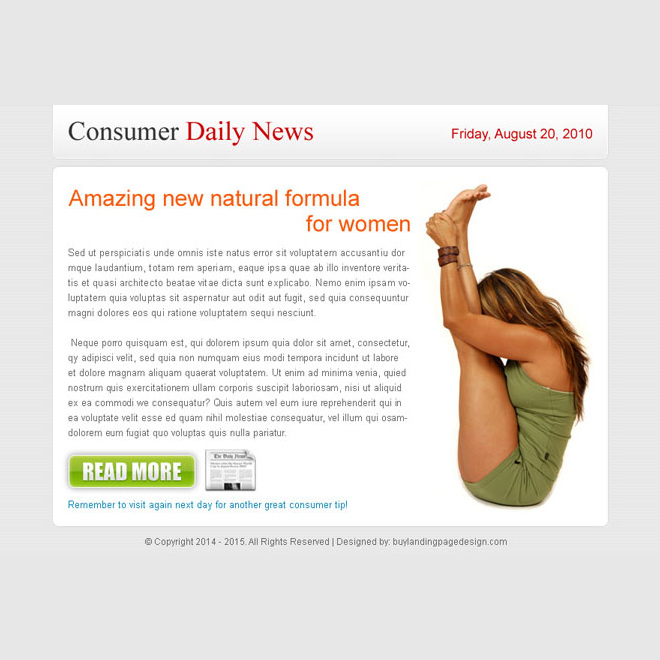 amazing new natural formula for women ppv landing page design Miscellaneous example