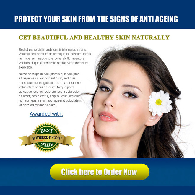 protect your skin from the signs of anti ageing skin care attractive ppv landing page design Skin Care example