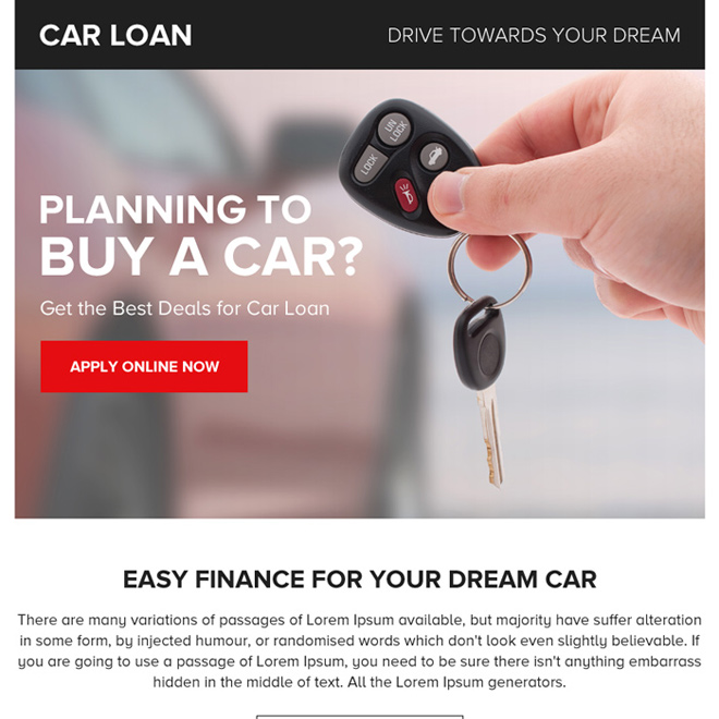car loan online application ppv landing page design Auto Finance example