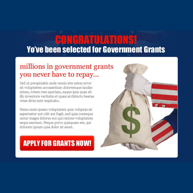 apply for government grants appealing ppv landing page design Government Grants example